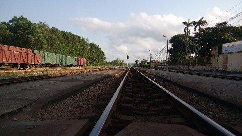 Thanh Hoa Railway Station in Vietnam