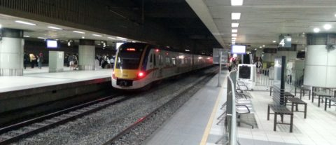 Train at Kuala Lumpur Sentral Station