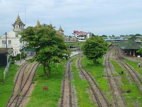 Yangon Central Railway Station in Myanmar