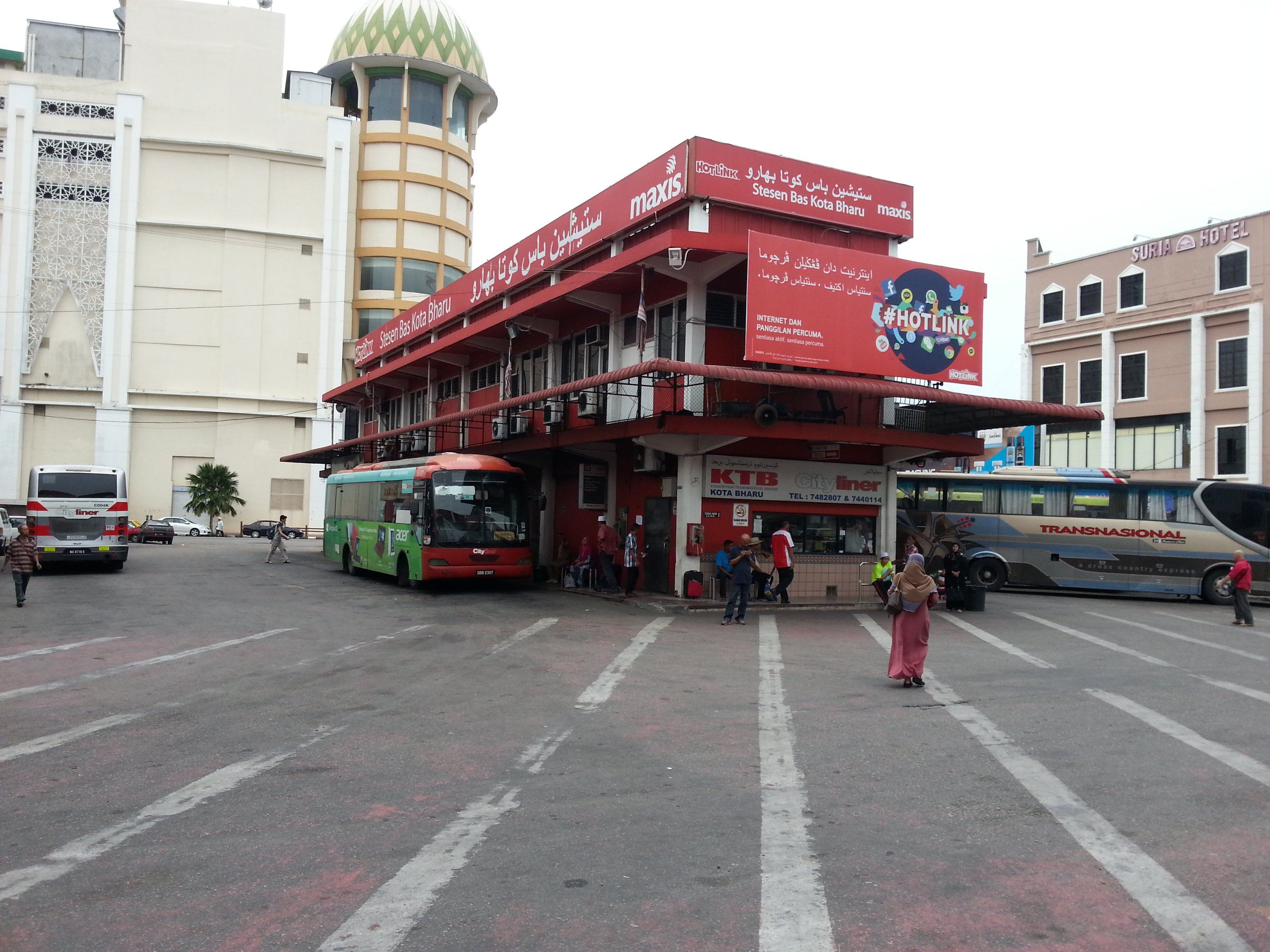 Town centre bus station in Kota Bharu