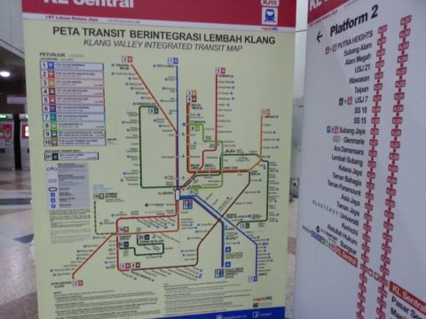 Range of services from KL Sentral