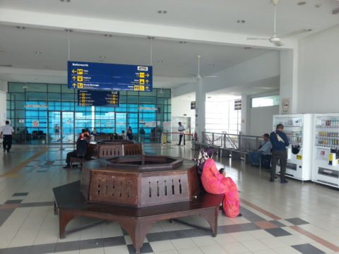 Waiting area at Butterworth Railway Station