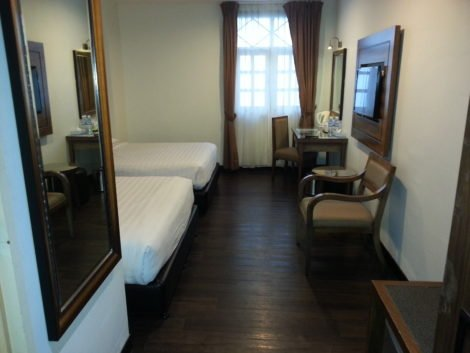 Double room at the Armenian Street Heritage Hotel