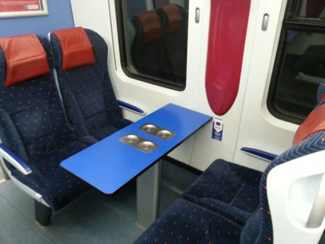 Facing seats on an ETS Gold Train
