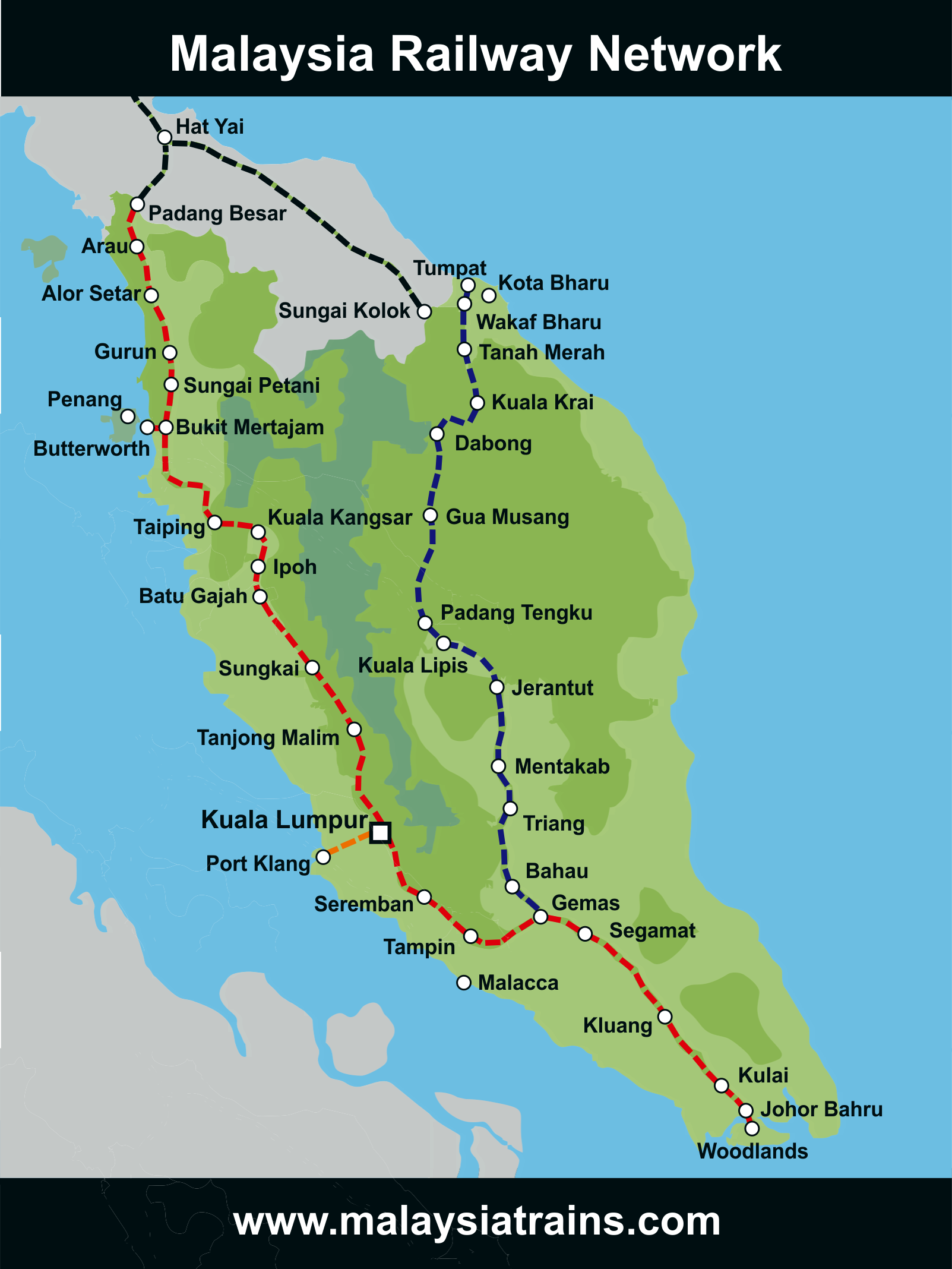 Map of Malaysia's Railway Network