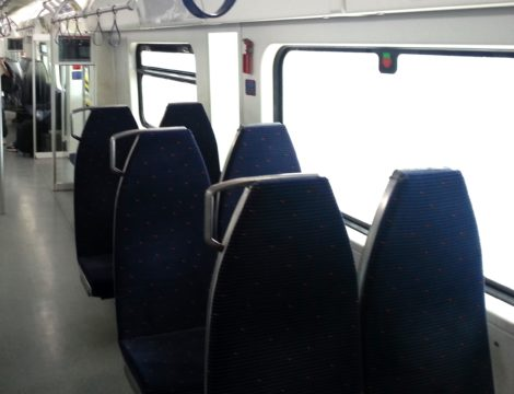 Seating on an ETS Komuter Train