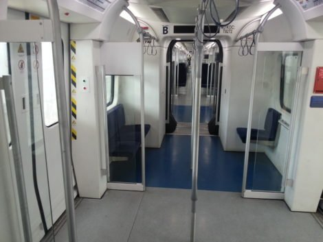 Standing area on ETS Komuter Train