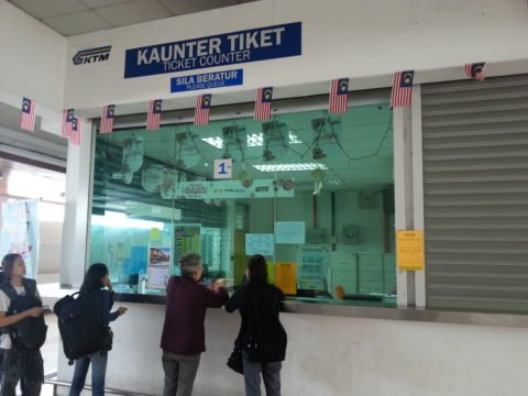 Ticket counter at Padang Besar Train Station
