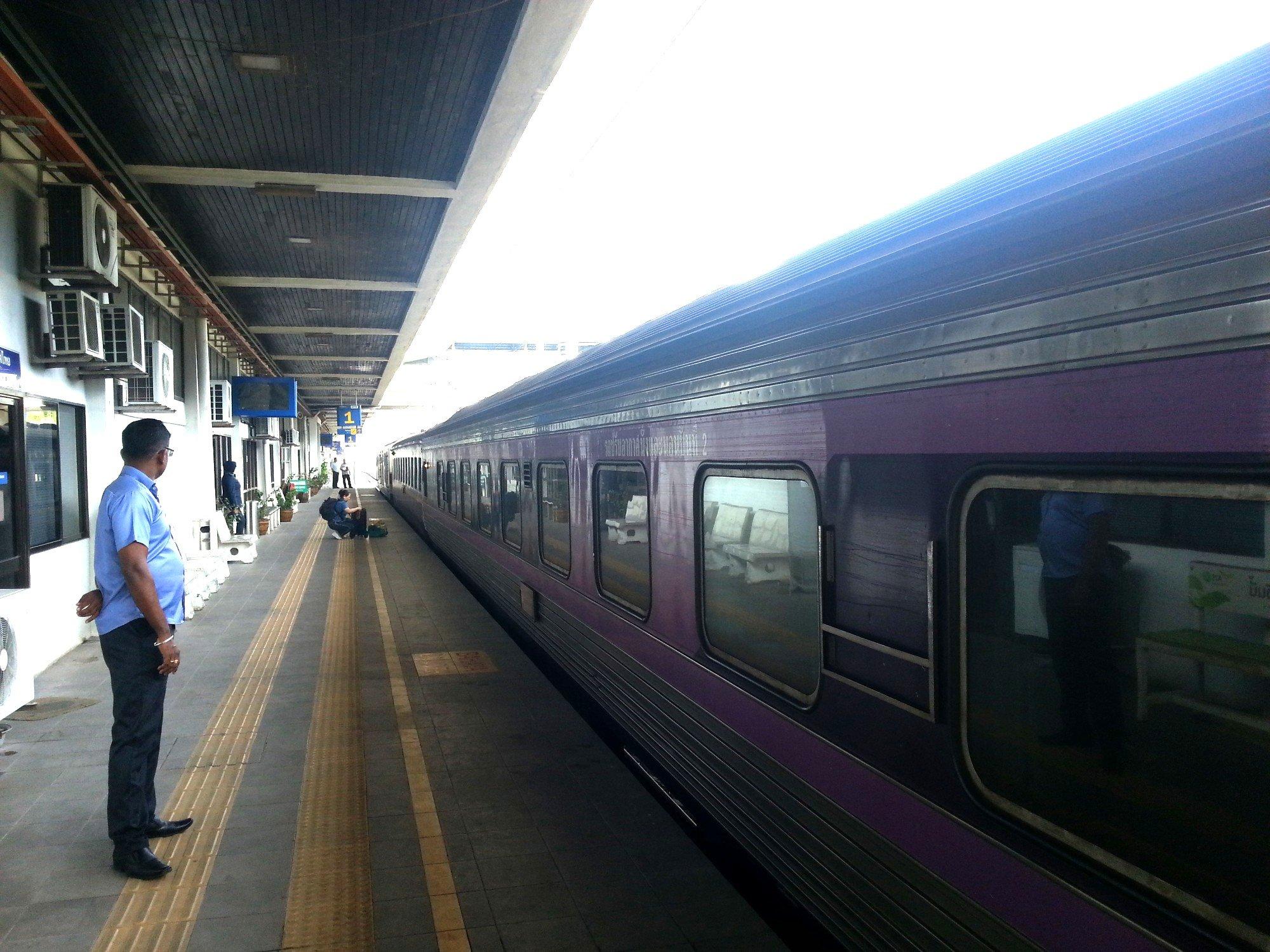 Train at Padang Besar Railway Station