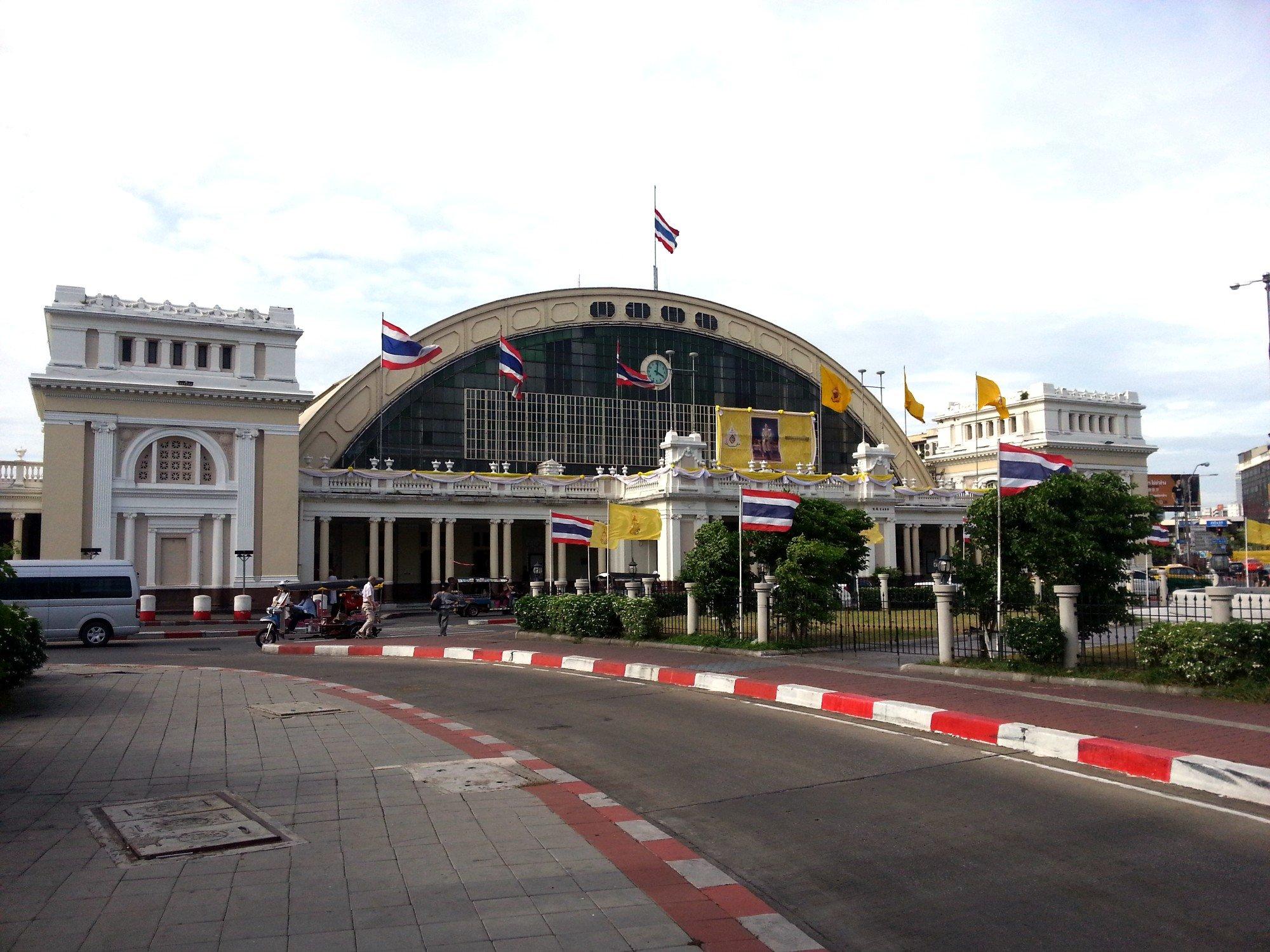 Hua Lamphong Railway Station in Bangkok