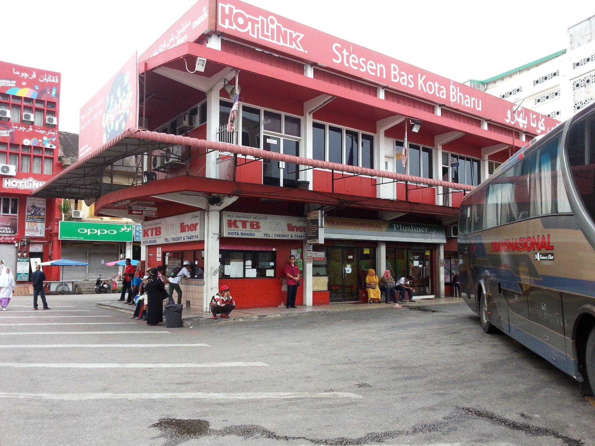 Bus services to Wakaf Bharu depart from the Stesen Bas Kota Bharu