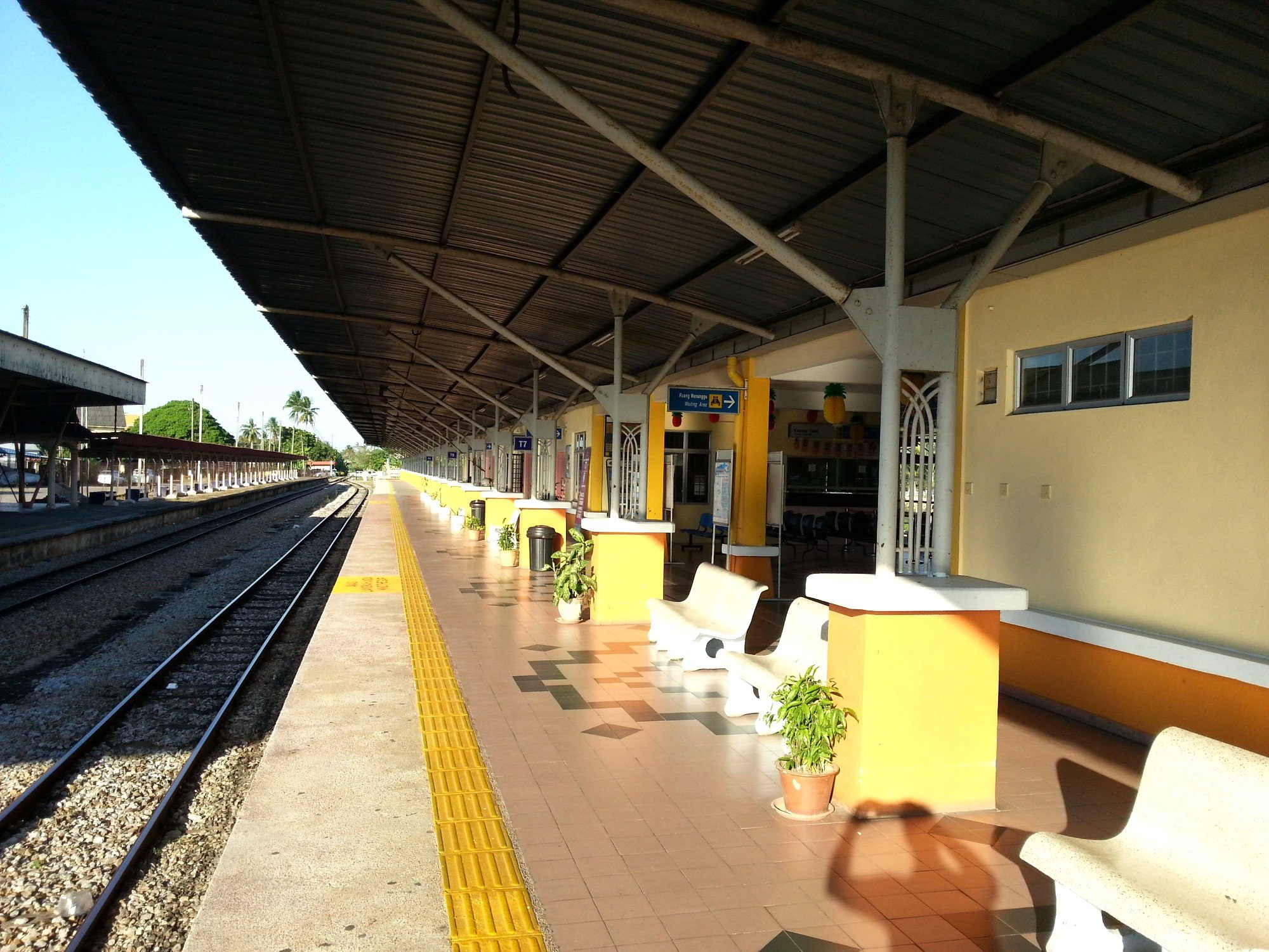 Platform 1 at Wakaf Bharu Railway Station