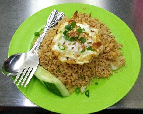 Fried rice on the Ekspress Rakyat Timuran
