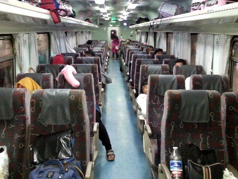 Seating carriage on the Ekspress Rakyat Timuran