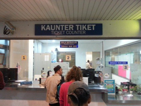 Ticket counters at Gemas Railway Station