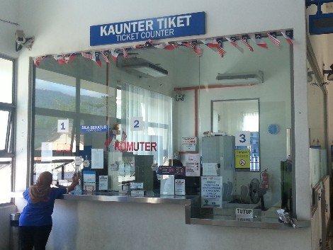 Ticket counter at Pulau Sebang/Tampin Railway Station