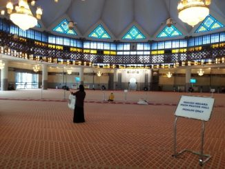 Prayer Hall at the National Mosque in Kuala Lumpur