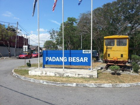 Padang Besar Railway Station is near to the border with Thailand