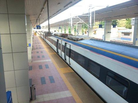 Train at Pulau Sebang - Tampin Railway Station