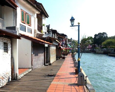 Riverside walk in Malacca