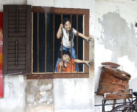 Wall mural in George Town, Penang