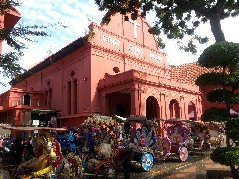 Christ Church Melaka was built by Dutch settlers