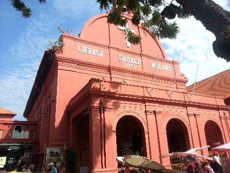 Dutch settlers built Christ Church Melaka in the 18th Century