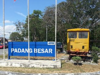 Padang Besar Railway Station is near the border with Thailand