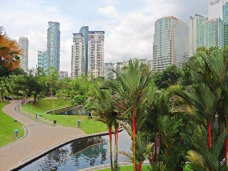 KLCC Park in Kuala Lumpur